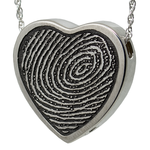 Sterling Silver Fingerprint Jewelry ash holding